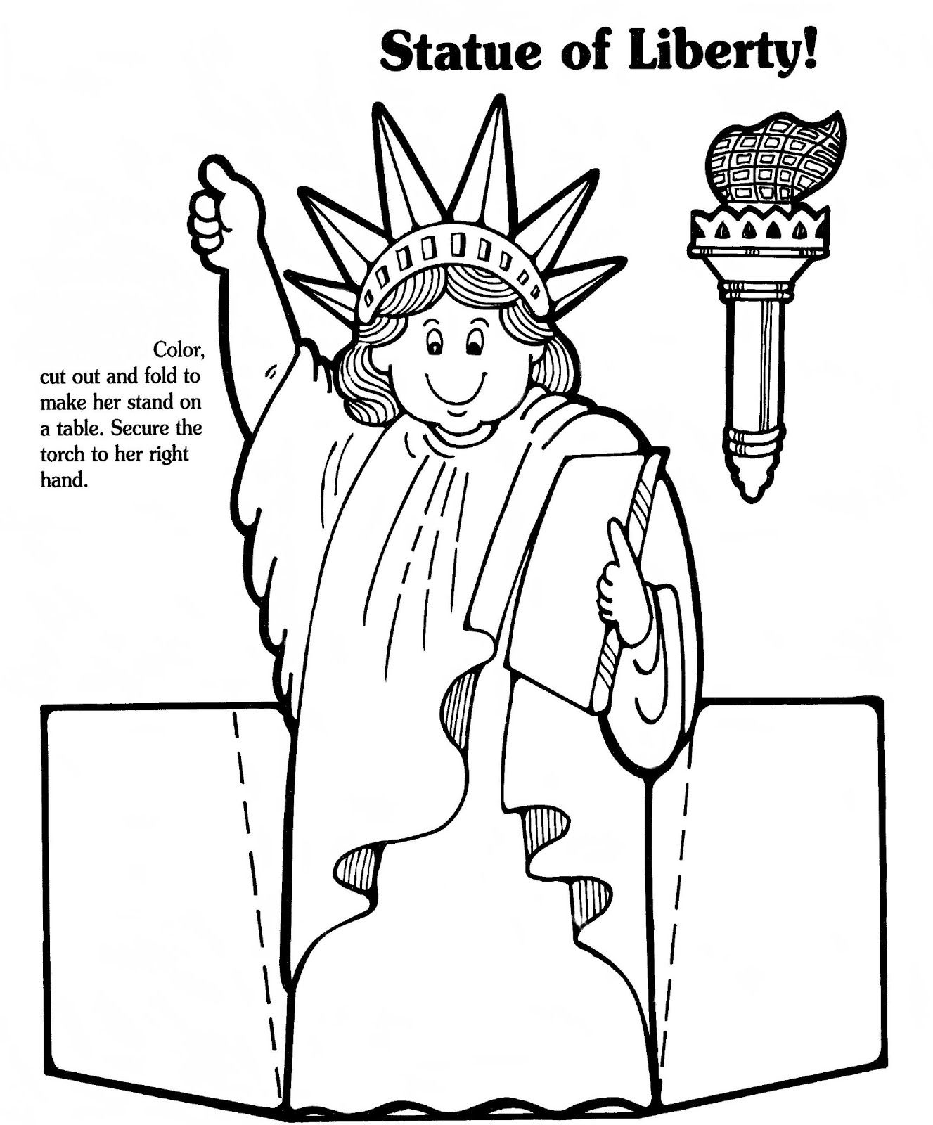 Lady Liberty Paper Doll
