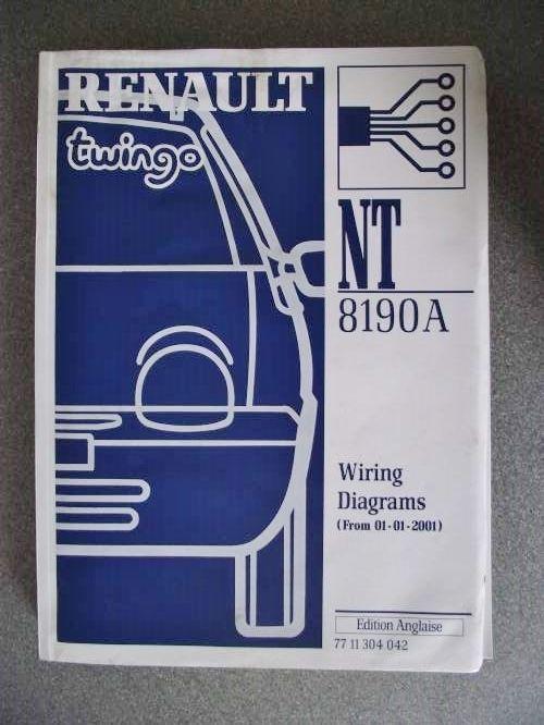 Renault Twingo Wiring Diagrams Manual 2001 7711304042