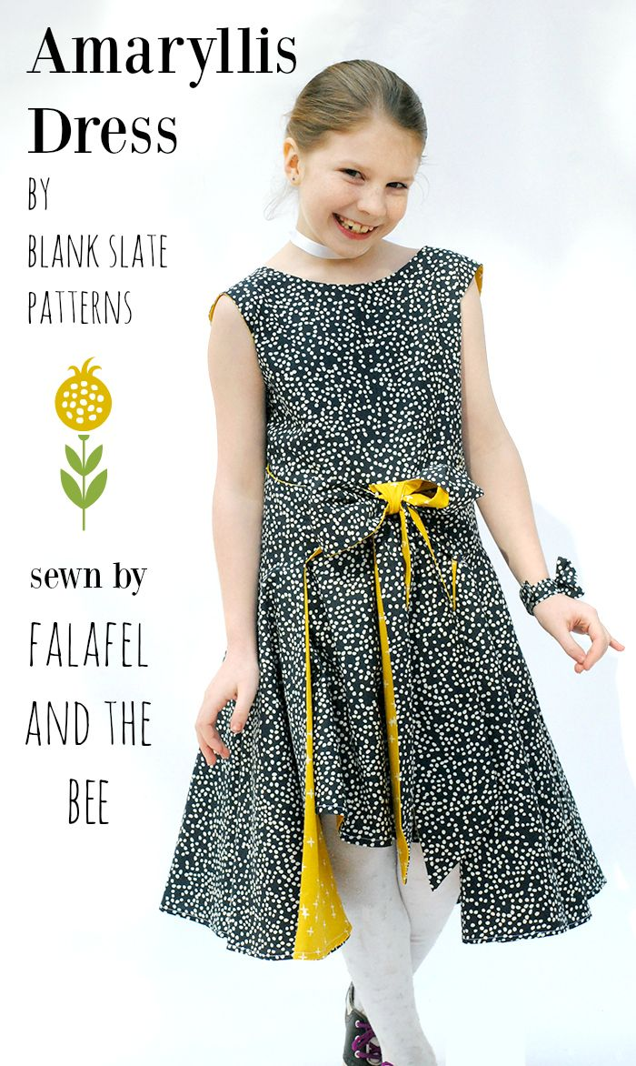 Amaryllis Dress with Falafel and the Bee - Blank Slate Sewing Team