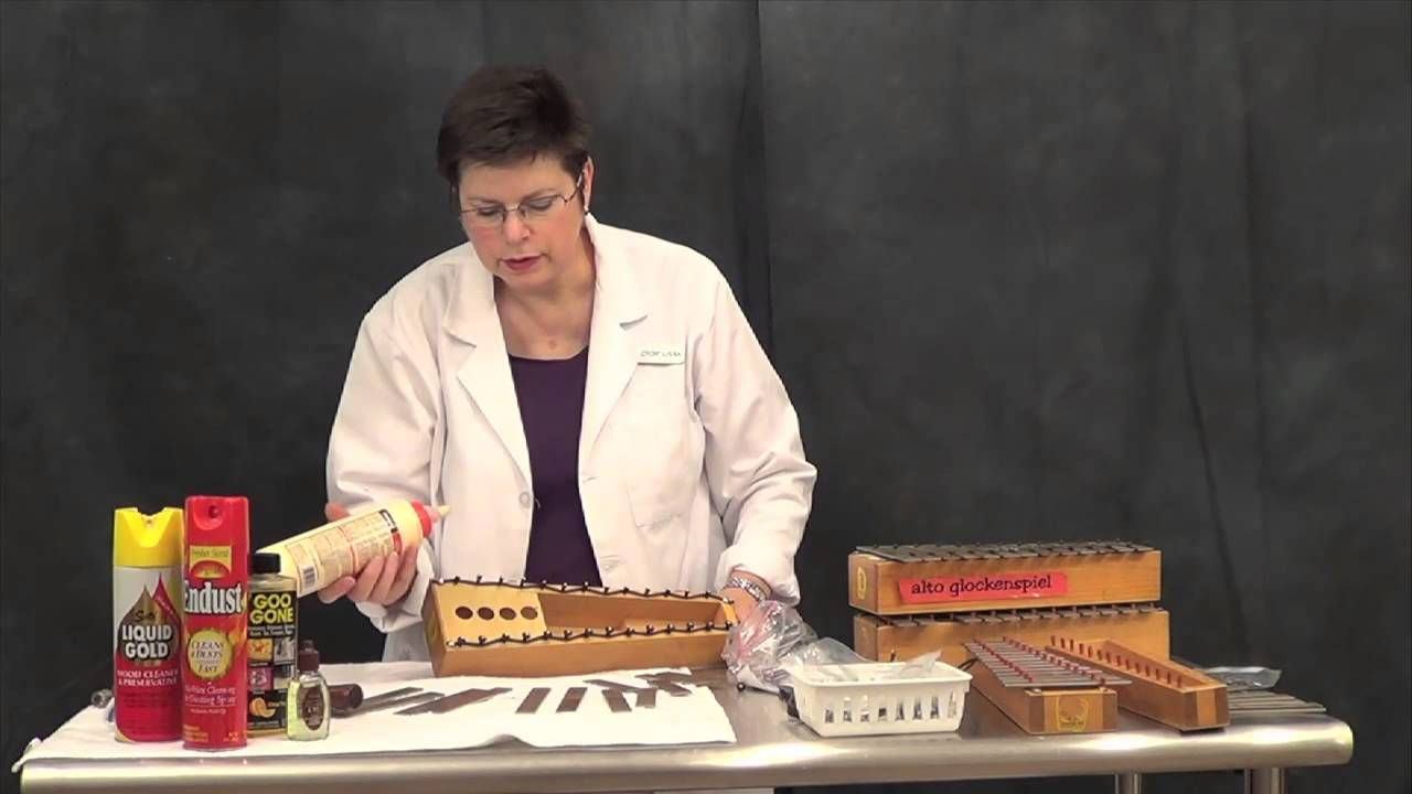 """Dr. Lissa"" shows us how to heal a glockenspiel with a buzzing problem."