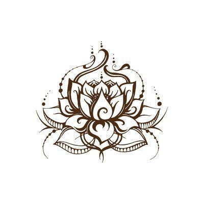 World Menagerie Lotus Flower Wall Decal | Wayfair.ca