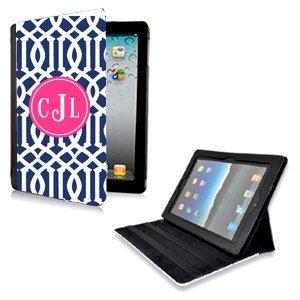 Personalized Trellis iPad Case  Monogram iPad 2 3 by AModernStyle