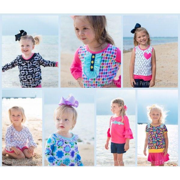 Perfect Ten - Little Lizard King  Girls Shirt Pattern -2939