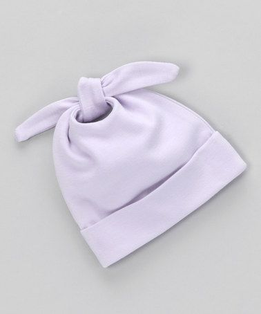 Take a look at this Sckoon Organics Lavender Single-Knot Beanie by Organics for Baby Collection on #zulily today!
