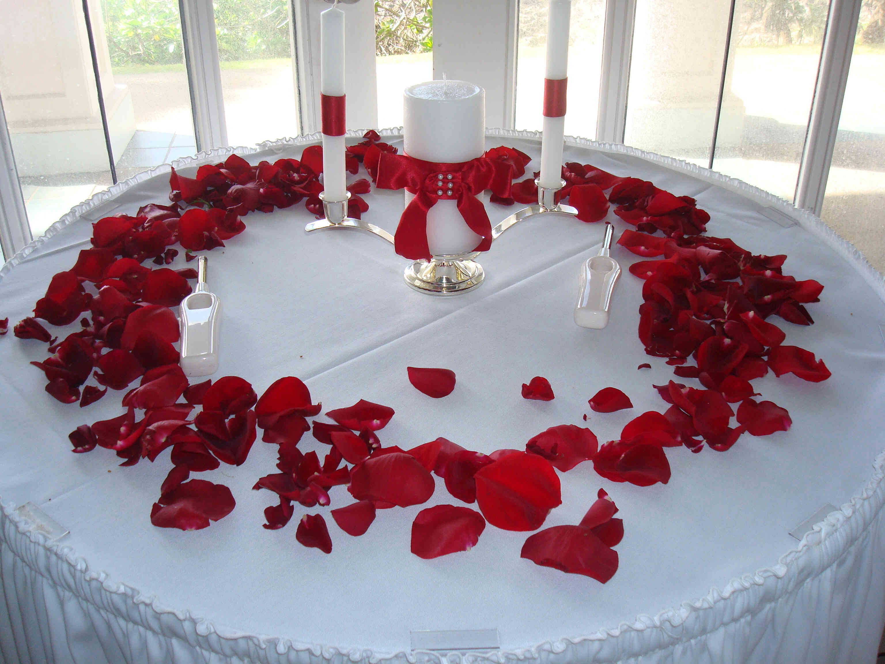 Wedding Table Make Table Decorations For Weddings unity candle table idea rose petals wedding pinterest reception decorationswedding