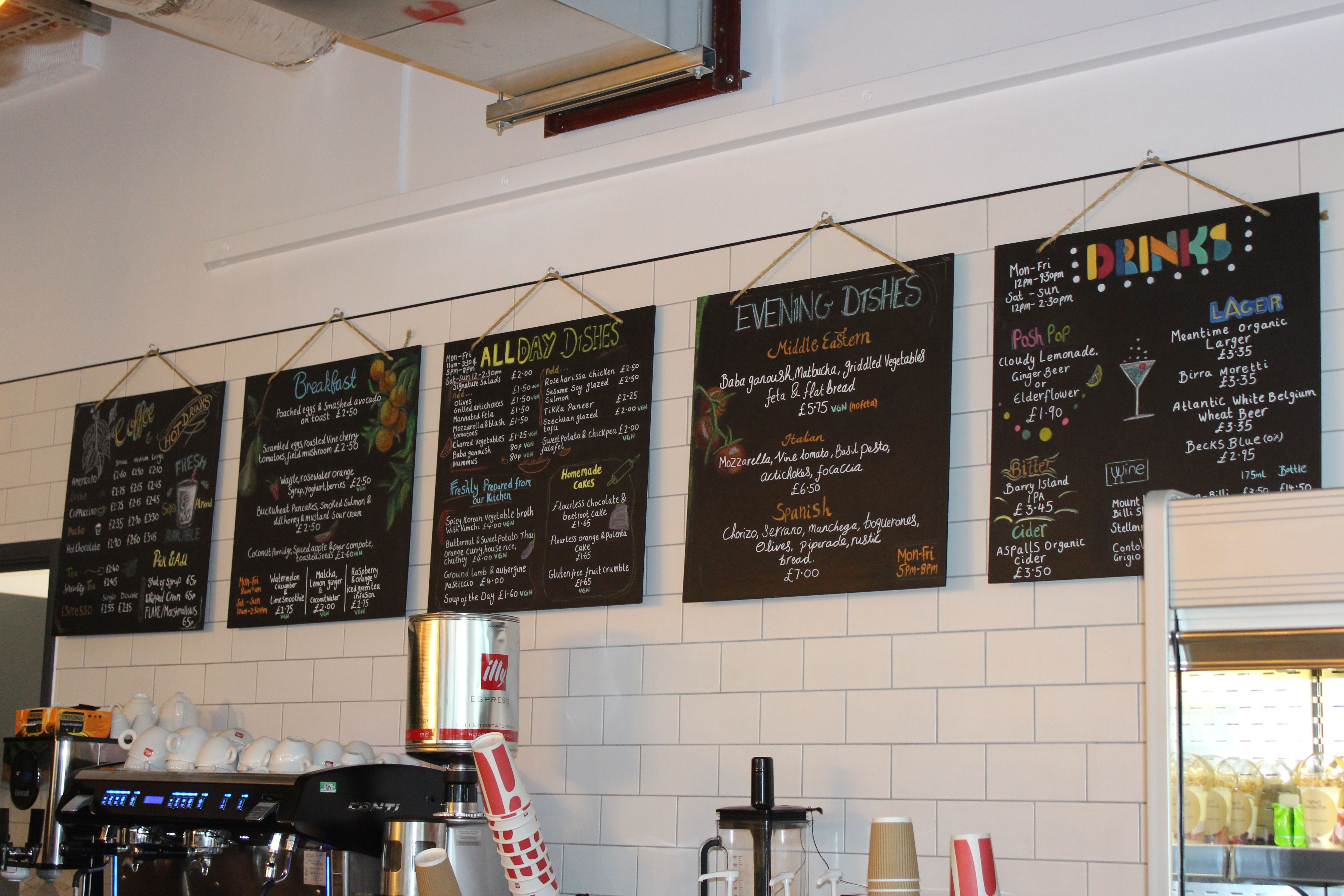 Chalkboard Menu For River Side Cafe By Jemisha Maadhavji Chalkboard Menu Scandinavian Art Cafe