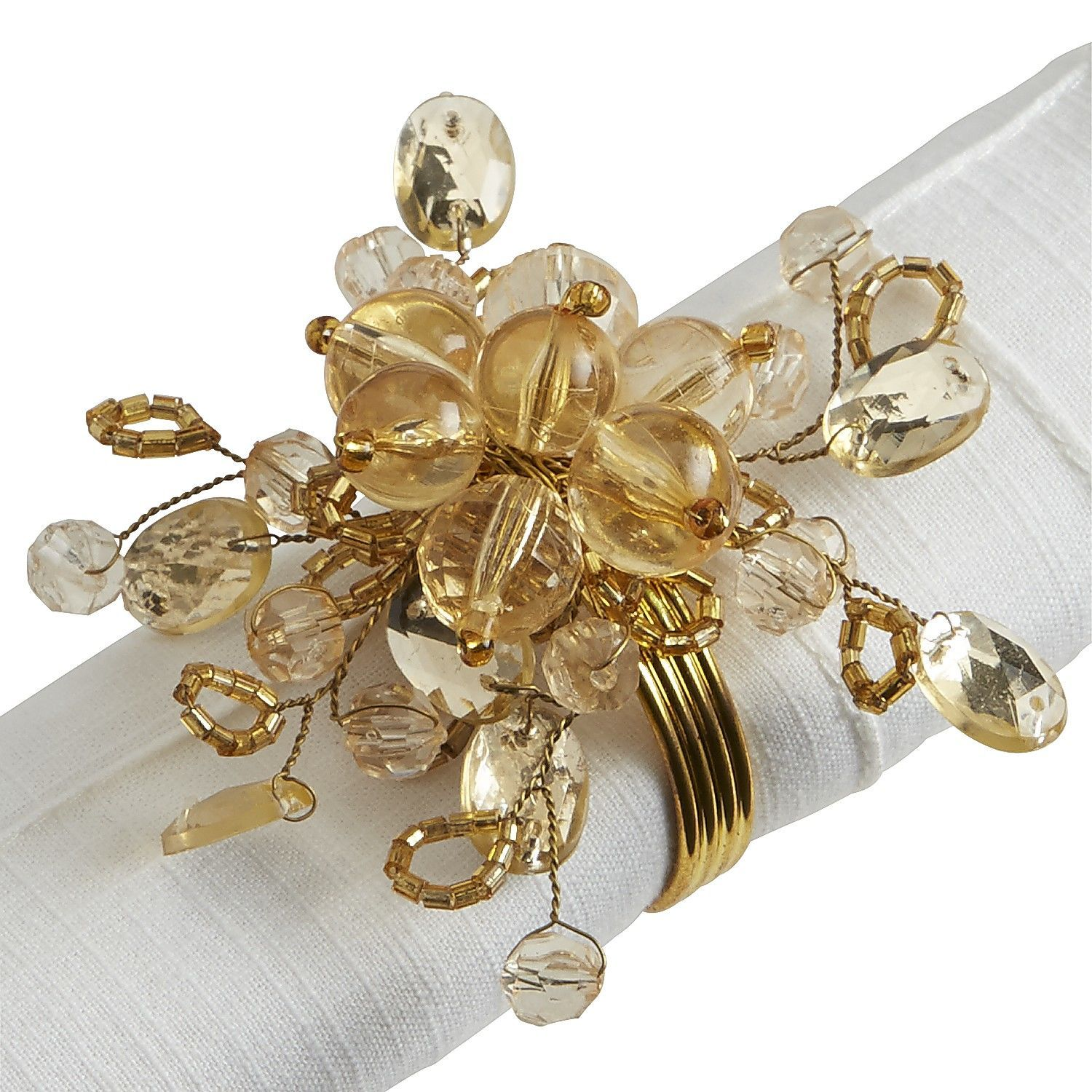 Beaded Spray Napkin Ring  Gold - Pier 1 Imports