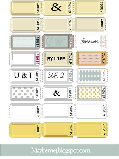 Freebie maybemejtickets Printables Printable tickets, Printables