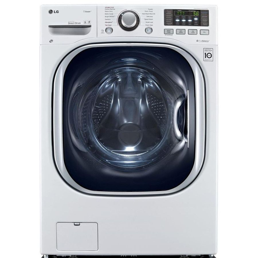 Lg 4 2 Cu Ft Washer Capacity 4 2 Cu Ft Dryer Capacity White Ventless Combination Washer And Dryer With Steam Cycle Lowes Com Ventless Dryer Washer Dryer Combo Ventless Washer Dryer