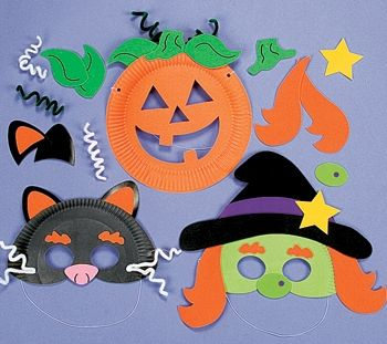 paper plate halloween crafts | Paper Plate Halloween Mask Craft Kit x 12 [MCT-3919] - £13.66 ...