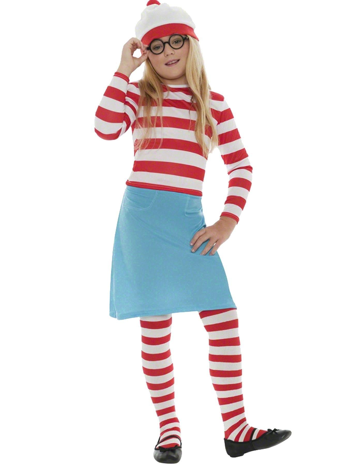 Where\'s Wally Wenda Girls - Child Costume   very.co.uk   Very Cool ...