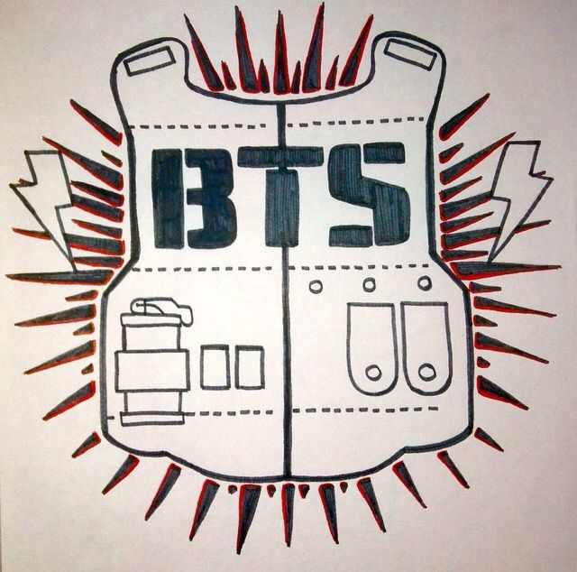 Bts logo want to draw pinterest bts and baekhyun for Draw my logo