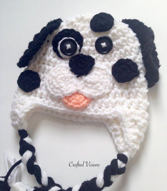 PATTERN** Crochet Dalmatian hat, All Sizes, Newborn to Adult ...