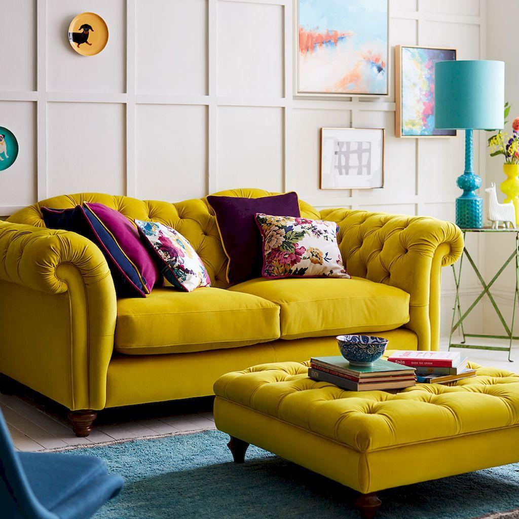 50 Inspiring Yellow Sofas For Living Room Decor Ideas Living
