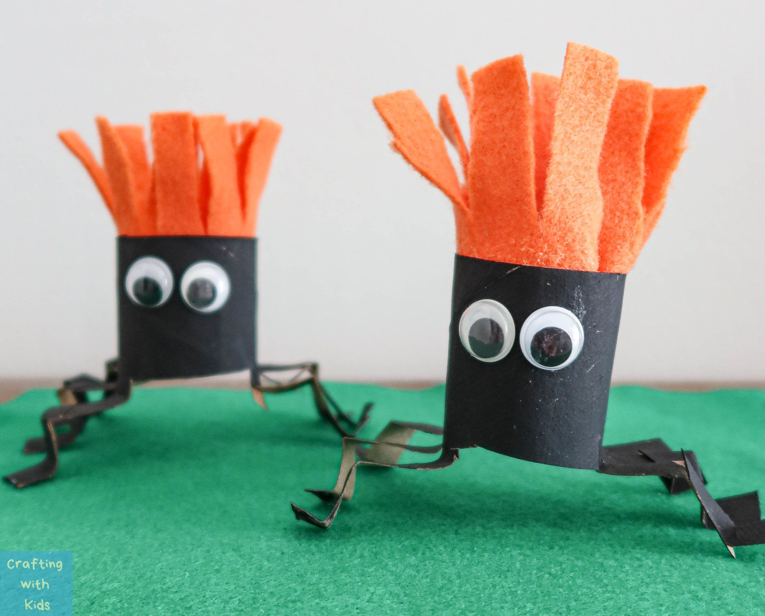 DIY Toilet Paper Roll Spiders Easy Halloween Craft for Kids
