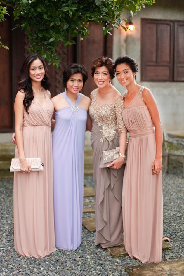 Ont Pastel Wedding In The Philippines Cute Photo Of Guests Coordinating Colors