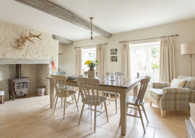 The Oak Dining Table And Chairs Are From Mother Hubbard Of Nailsworth. The  Walls Are