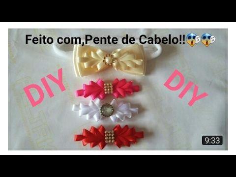 DIY:Faixinha de Bebê Fofura!!(Feita com,Pente de cabelo)| Elessandra Monteiro Lelê Baby - YouTube
