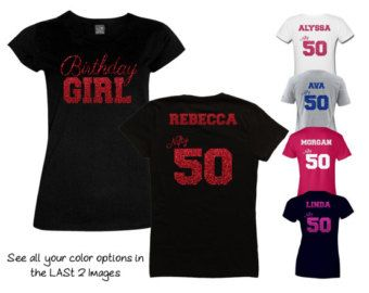 Birthday Girl Fabulous 40 Shirt Personalize the Name and Colors