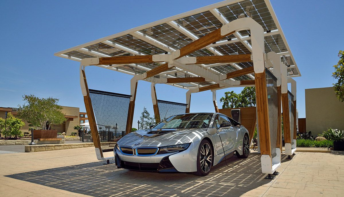 Bamboo Solar Carport Coming To Charge Your Bmw I3 Bmw I3 Bmw I Solar Charging Station