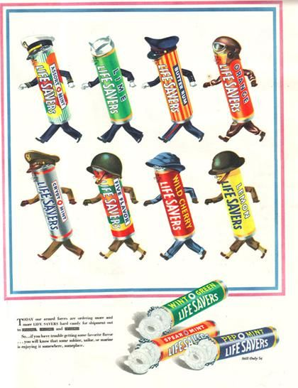 World War II ad for LifeSavers #candy #vintagead | Pop Goes