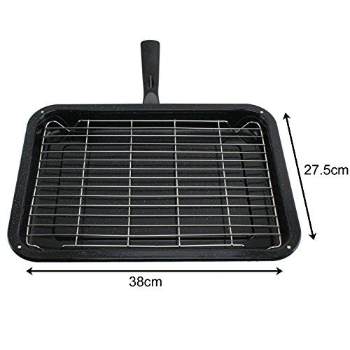 Spares2go Small Grill Pan Rack Detachable Handle For Swan Oven Cookers Check Out This Great Product By Click Affil Oven Cooker Small Grill Cookware Display
