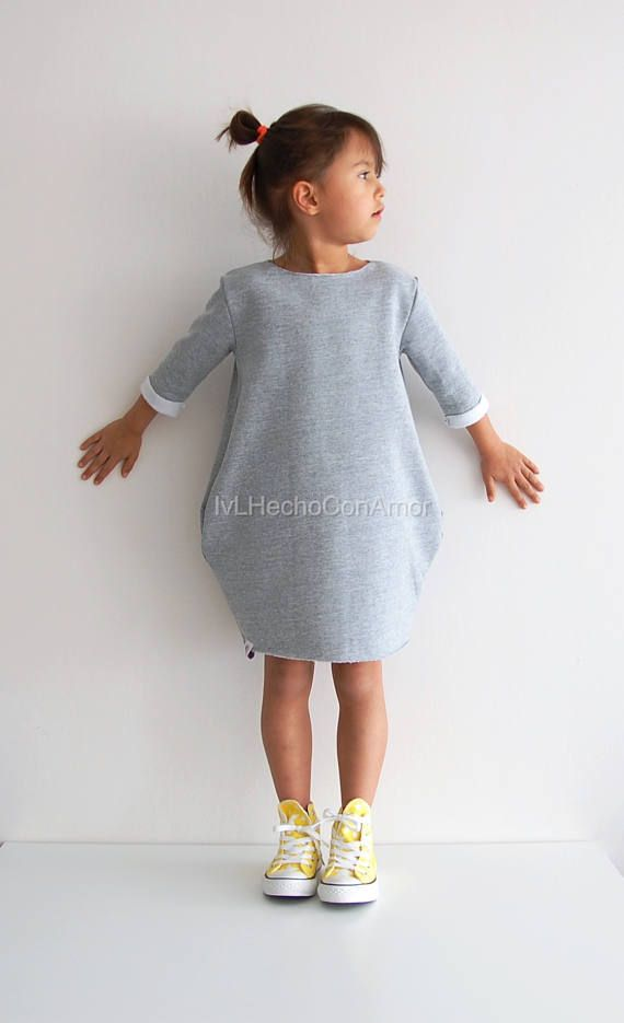 Girls sweatshirt dress pattern pdf, oversized sweater sewing pattern, girls dress pattern, girls dress sewing pattern pdf, instant download