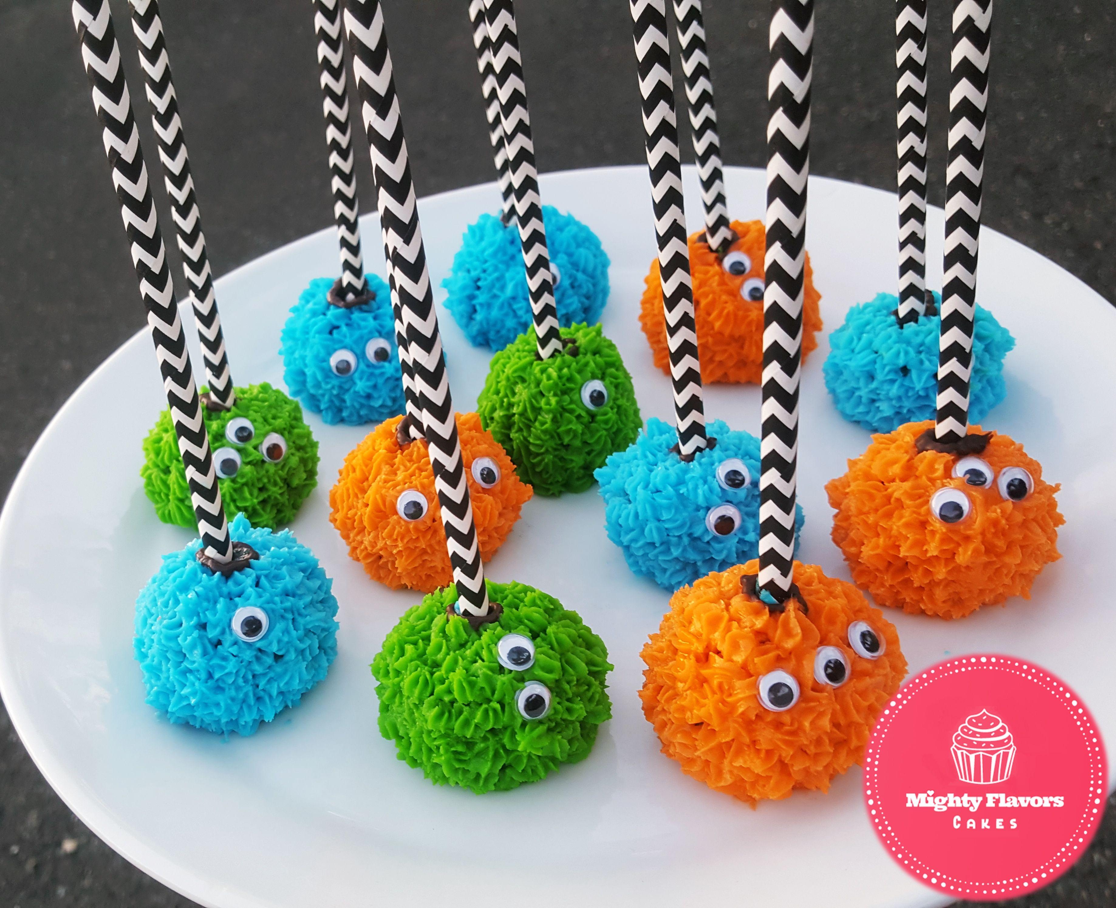 Monster Cake Pops (With images) Monster 1st birthdays