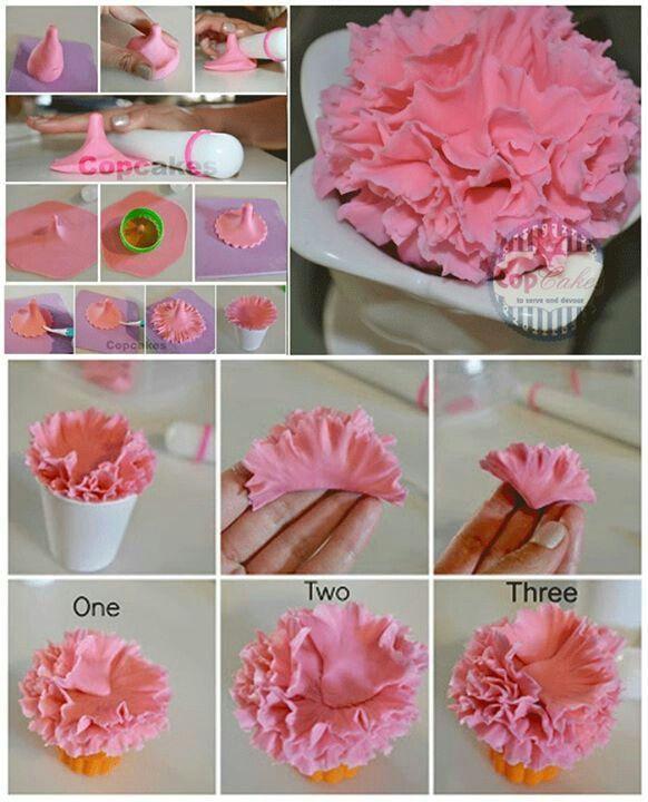 Pinterest Carnations Cake Tutorials