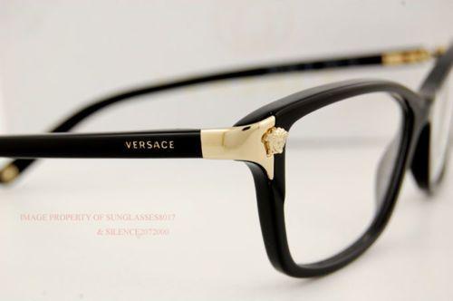 637f57199 Nova marca Versace Óculos Frames 3156 Gb1 Preto para as mulheres, 100%  Autêntica