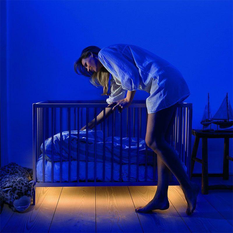 Motion Activated Under-Bed Lighting | Led strip, Lights and Dresser