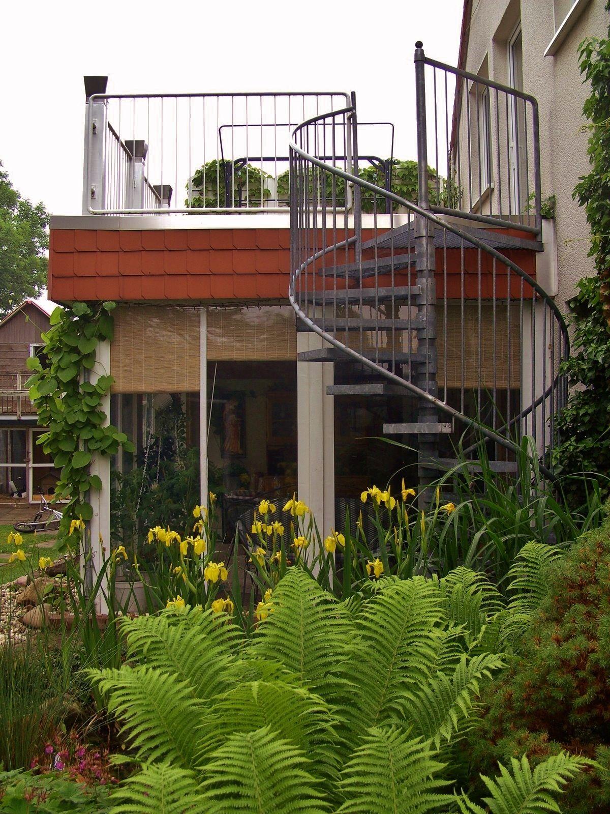 Wintergarten / Balkon / Wendeltreppe | Outdoors | Pinterest