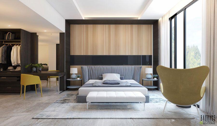 Camera Da Letto Legno Moderna : Pareti in legno per la camera da letto idee dal design unico