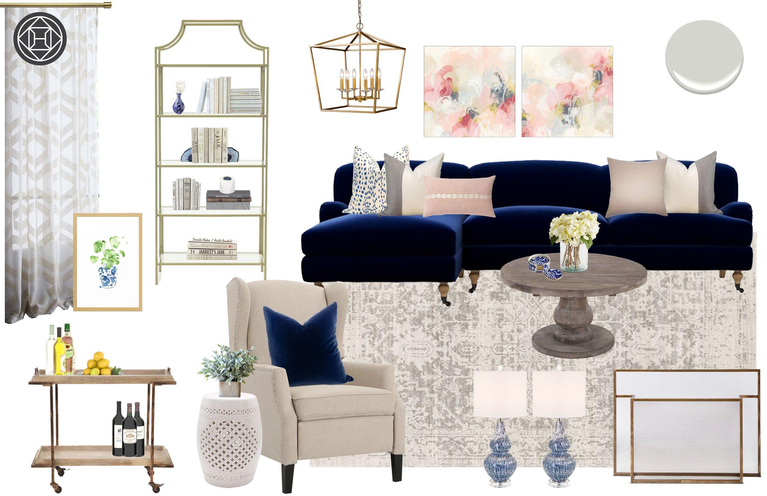 Classic, Traditional Living Room Design by Havenly Interior Designer Lauren #havenlylivingroom