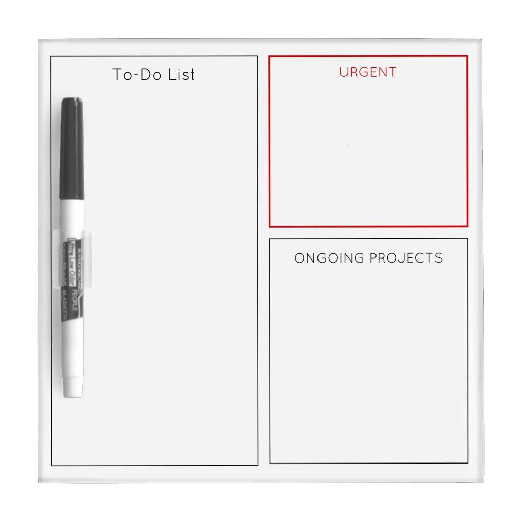 To Do List Dry Erase White Board Custom Sections Zazzle Com White Board Dry Erase Whiteboard Organization