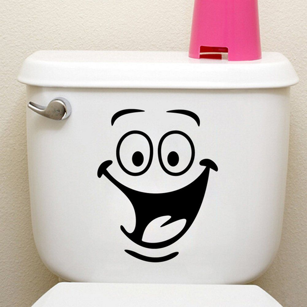 Best Funny Animation Big Eyes Toilet Wall Decal Home Sticker Living Room Bedroom Kitchen Art Picture 640 x 480