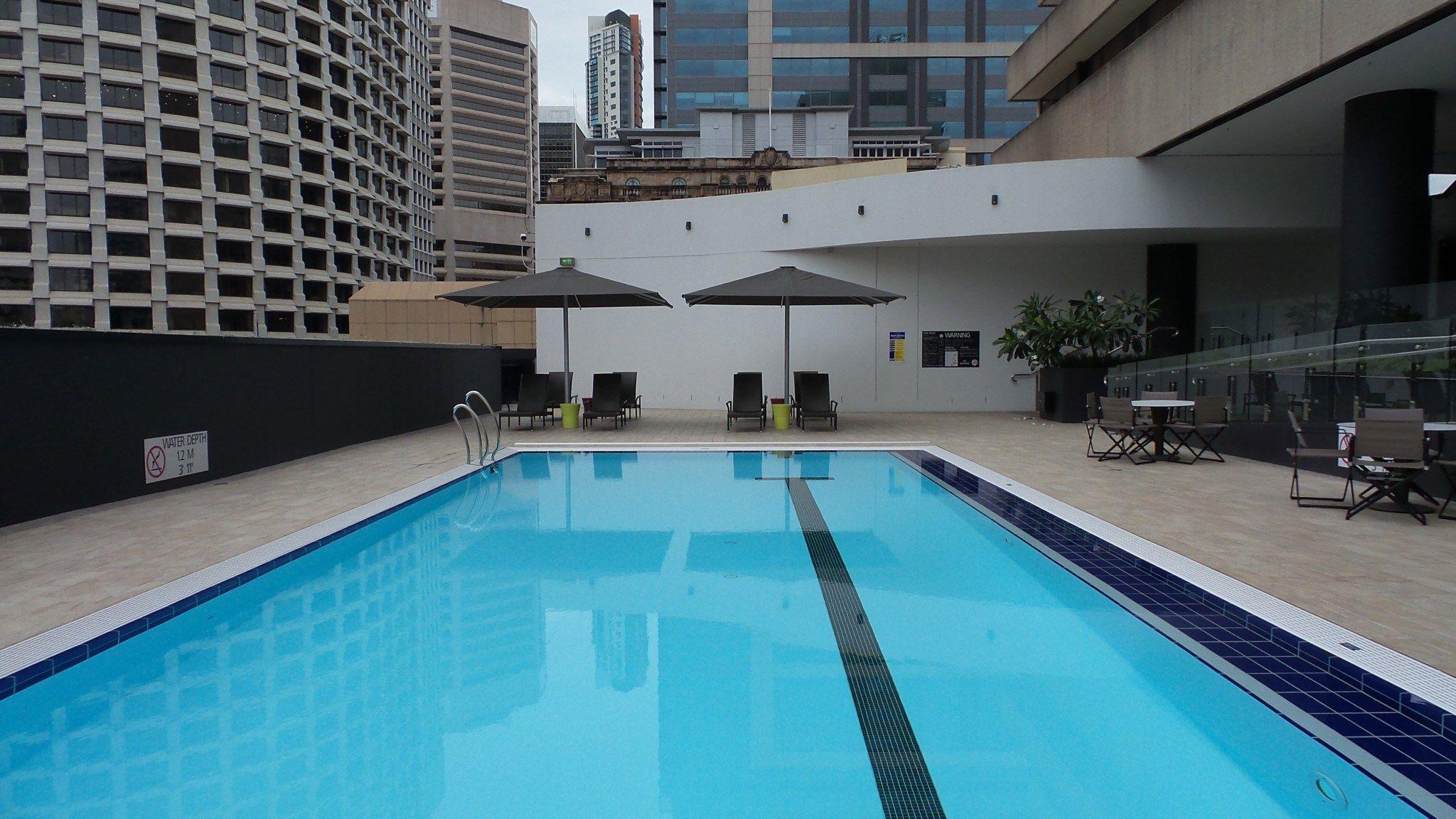 Swimming Pool Area At The Hilton Brisbane Hotel Hilton Brisbane