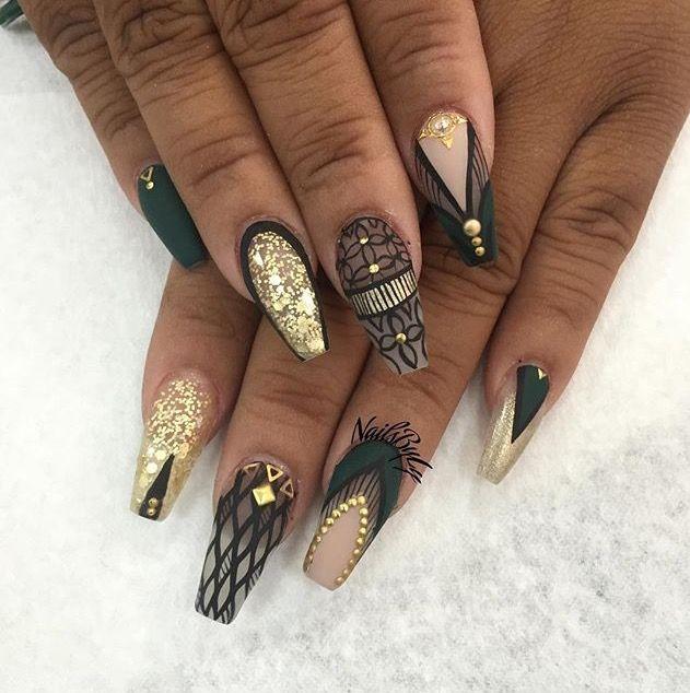 Pin by JUJU on lookbook | Pinterest | Aztec nail art, Aztec nails ...