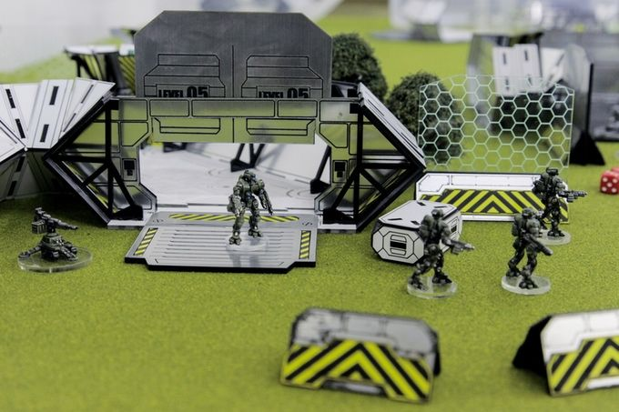 Laser cut, plastic, light up, tabletop wargames terrain