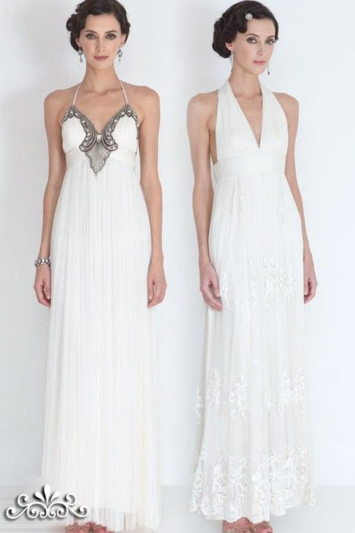 Dresses, Bridal Denise Collette Halter Neck Wedding Dresses ...