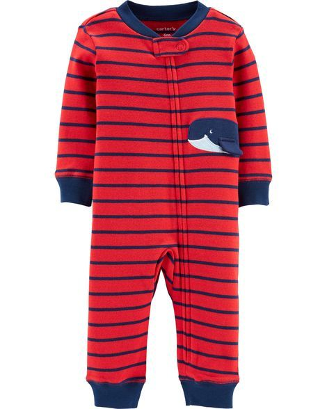 33b49b4b0b9a Whale Zip-Up Footless Sleep   Play