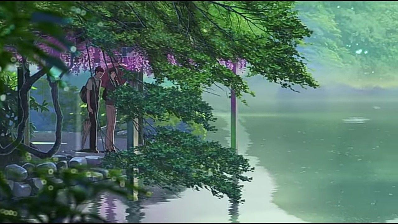 El Jardin De Las Palabras Kotonoha No Niwa 言の葉の庭 Garden Of Words Anime Scenery Landscape Drawings