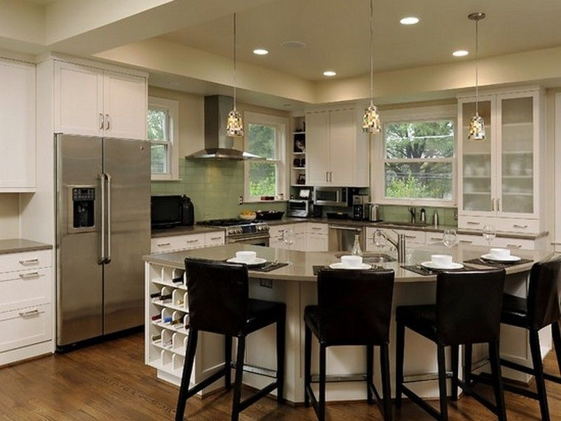 Kitchen Island Designs With Seating L Shaped Kitchen Island With
