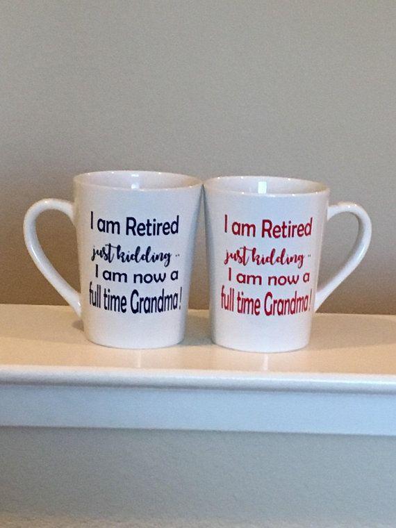 Full Time Grandmas Retirement Mugs Gifts For Mom Lat