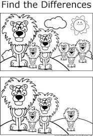 Find The Difference Ile Ilgili Gorsel Sonucu Coloring Pages Lion Coloring Pages Coloring Pages For Kids