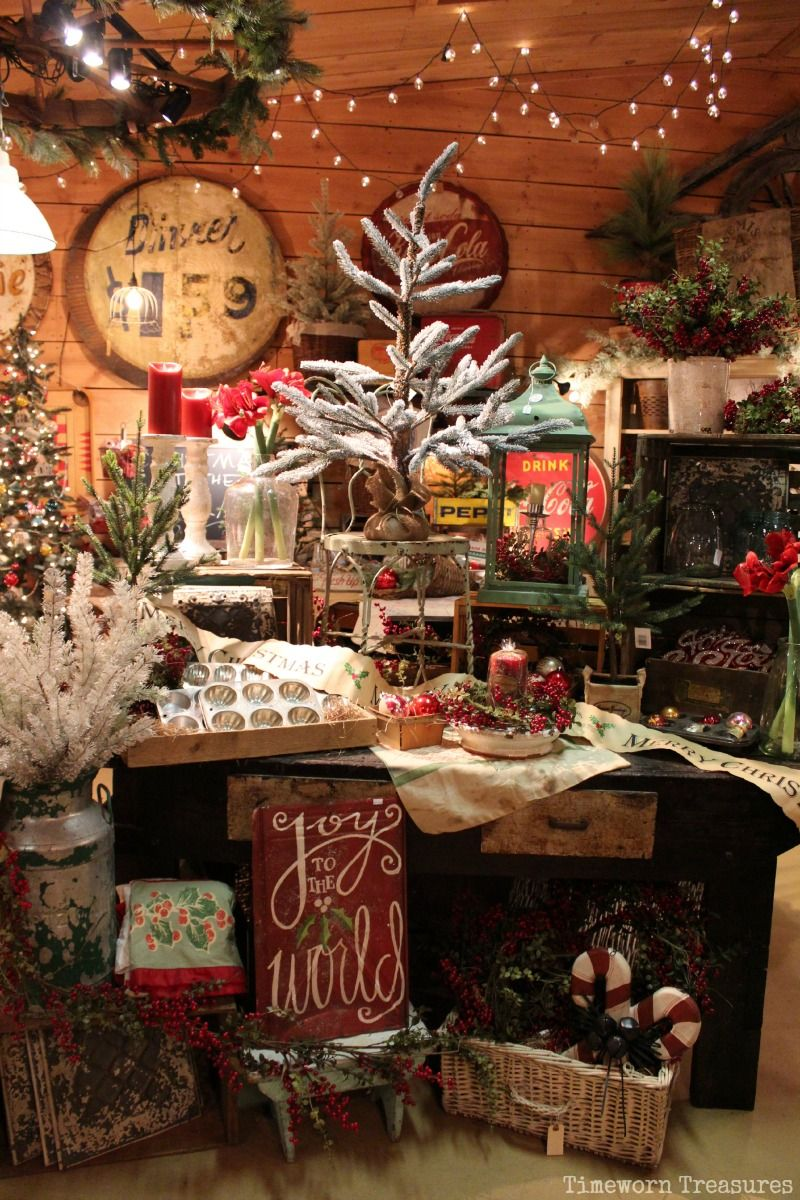 Christmas display our shop timeworn treasures danville for The christmas shop