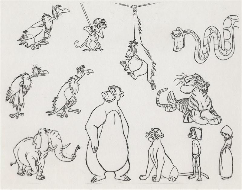 Concept Art 1967 Jungle Book Jungle Book Tattoo Jungle Book Characters Disney Concept Art