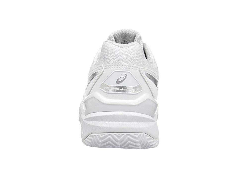 Asics Gel Resolution 7 Clay Court Women S Tennis Shoes White Silver Womens Tennis Shoes Shoes