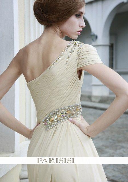Aline la noche de gasa vestido de diamantes Perlin, €297