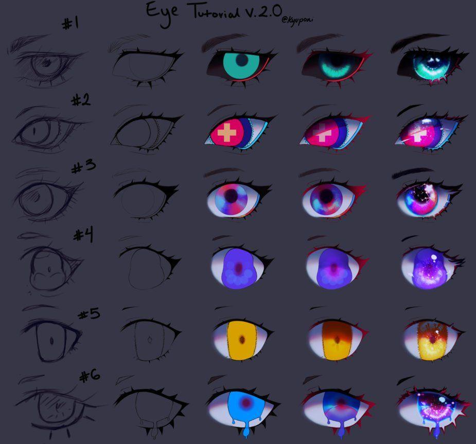 Eye Tutorial V2 By Https Www Deviantart Com Kyupon On Deviantart Digital Art Beginner Digital Art Tutorial Anime Eye Drawing